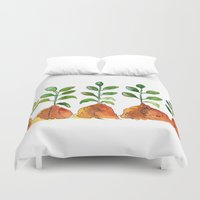 succulents Duvet Covers featuring Succulents by Gosia&Helena