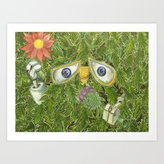 wall-E in the bushes Art Print
