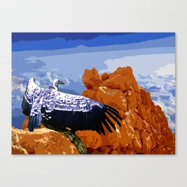 Vulture Spirit Guide Canvas Print