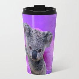 Koala and Orchid Travel Mug