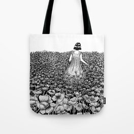 The Field of Poppies Tote Bag