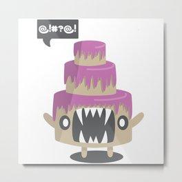 Angry Cake Metal Print