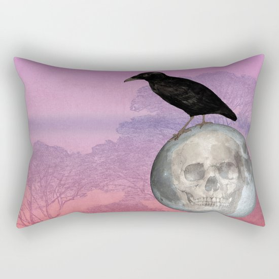 'Sit on my finger, sing in my ear, O littleblood.' Rectangular Pillow