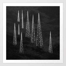 Towers. Art Print