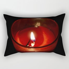 The Candle in the night Rectangular Pillow