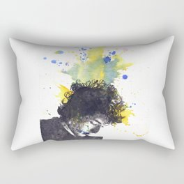 Portrait of Bob Dylan in Color Splash Rectangular Pillow