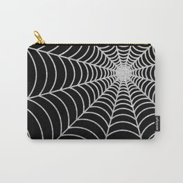 Spiderweb | Silver Glitter Carry-All Pouch