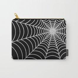 Spiderweb | Silver Glitter Carry-All Pouch