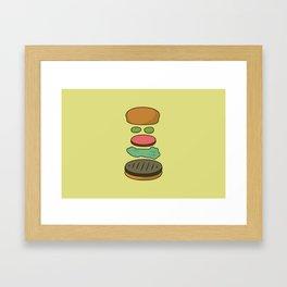Bob's Burgers Hamburger Parts Framed Art Print