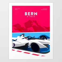 Bern E-Prix Art Print