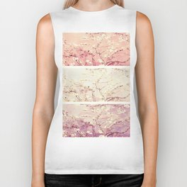 Vincent Van Gogh : Almond Blossoms Panel ART Biker Tank