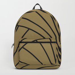 Diamond Series Floral Burst Charcoal on Gold Backpack