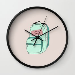 Backpack Wall Clock