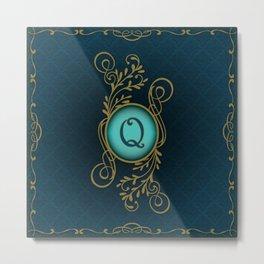 Monogram Q Metal Print