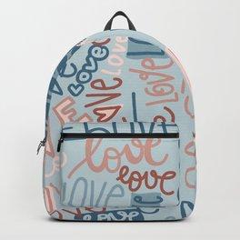 love, love, love blue background Backpack
