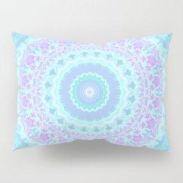 Cyan, Turquoise, and Purple Kaleidoscope Pillow Sham