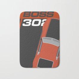 Minimal poster Mustang Boss 302 Orange Bath Mat