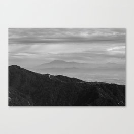 Hazy Ridge Canvas Print