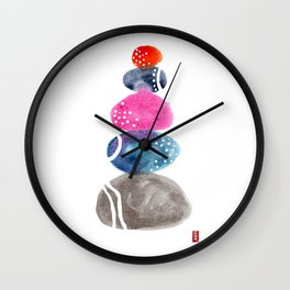 Zen Rocks 01 Wall Clock