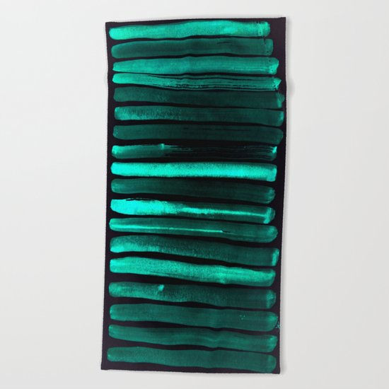 We Have Cold Winter Teal Dreams At Night Beach Towel