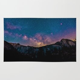 PURPLE MILKYWAY OVER THE MOUNTAINS Rug