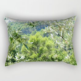 Sunny Green Scenery Rectangular Pillow