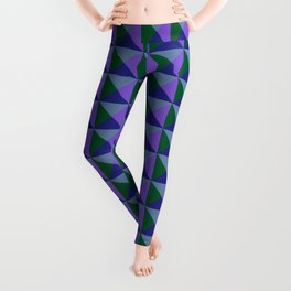 Abstract Triangle Pattern - Colorway #2 Leggings