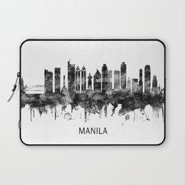 Manila Philippines Skyline BW Laptop Sleeve