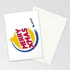 Burger Xmas Stationery Cards