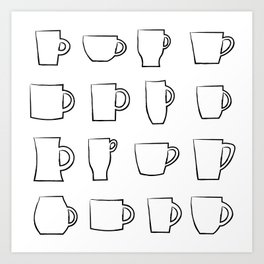 Mug Assortment Art Print