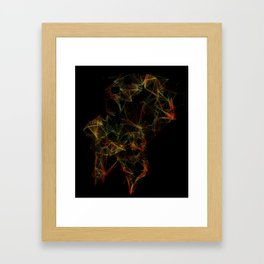 Neural Network Framed Art Print