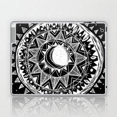 Black Moon Mandala Laptop & iPad Skin