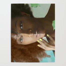 Colorism Split-Face Black Woman Poster
