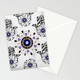 Mandala Evil Eye Hamsa Hand Stationery Cards