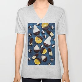 fruits dipped in chocolate Unisex V-Neck
