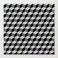 escher Canvas Prints featuring Escher by Adikt