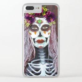 Samhain Parade Catrina by eileenaart Clear iPhone Case
