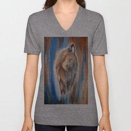 Wolf Girl Unisex V-Neck