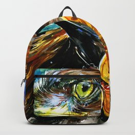 Golden Eagle And Butterfly by Kathy Morton Stanion Backpack