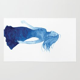 Woman in Blue or Sea Breeze Rug