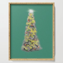 Happy Christmas Tree Serving Tray