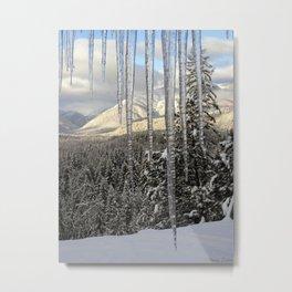Icicle Mountains Metal Print