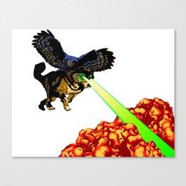 OWL WOLF ALLIANCE Canvas Print
