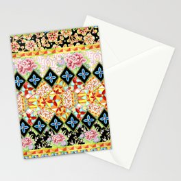 Folkloric Crazy Quilt (printed) Stationery Cards