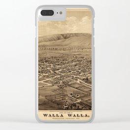 Map Of Walla Walla 1876 Clear iPhone Case