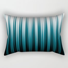 Tropical Dark Teal Inspired by 2020 Color Oceanside SW6496 Soft Vertical Blurred Line Pattern Rectangular Pillow