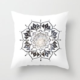 Namaste Nebula Mandala Design Throw Pillow