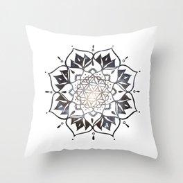 Namaste Nebula Mandala Design Throw Pillow