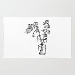 Bluebells Botanical Flower Illustration - Continuous Line Drawing - Floral Sketch Rug