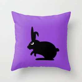 Angry Animals: Bunny Throw Pillow